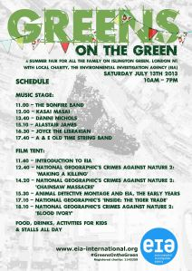 Greens on the Green Schedule